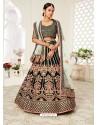 Dark Green Gorgeous Designer Heavy Wedding Wear Lehenga