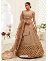 Beige Gorgeous Designer Heavy Wedding Wear Lehenga