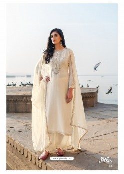 Off White Designer Party Wear Cotton Silk Salwar Suit