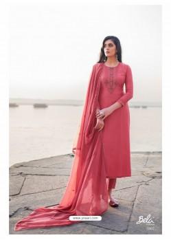 Light Red Designer Party Wear Cotton Silk Salwar Suit