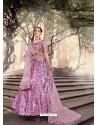 Mauve Scintillating Designer Heavy Wedding Wear Lehenga
