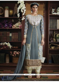 Ravishing Georgette Resham Work Designer Suit