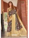 Navy Blue Latest Designer Party Wear Silk Sari