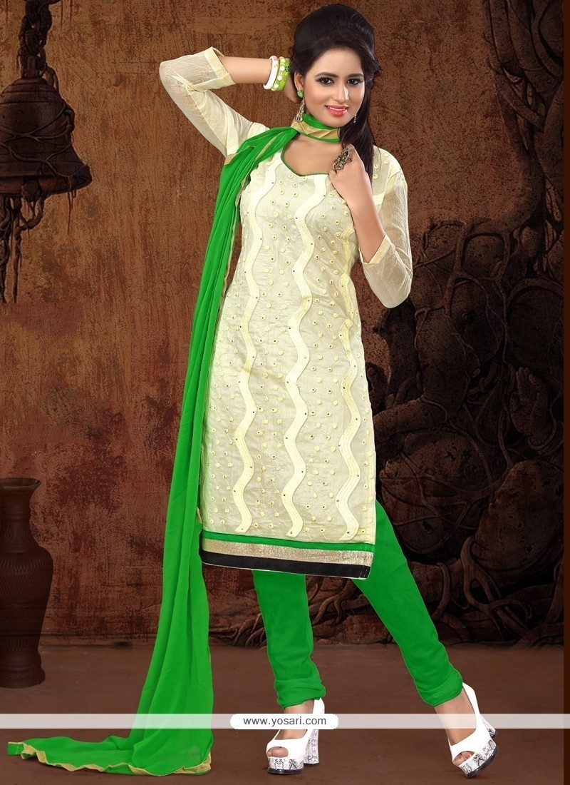Festal Chanderi Cotton Churidar Designer Suit