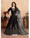 Black Stunning Heavy Designer Art Silk Party Wear Anarkali Suit
