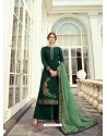 Dark Green Designer Party Wear Viscos Dola Palazzo Salwar Suit