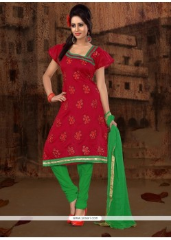 Adorning Embroidered Work Churidar Designer Suit