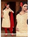 Phenomenal Lace Work Churidar Designer Suit
