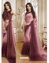 Pink Mesmeric Designer Classic Wear Satin Sari