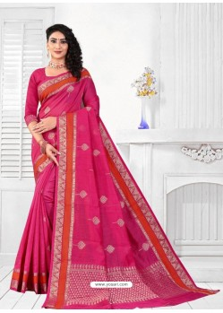 Rani Latest Designer Classic Wear Linen Sari
