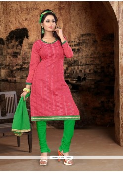 Affectionate Pink Churidar Designer Suit