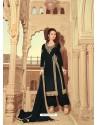 Black Scintillating Faux Georgette Wedding Salwar Suit
