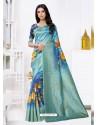 Blue Latest Party Wear Designer Banarasi Jacquard Sari