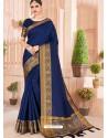 Royal Blue Latest Party Wear Designer Silk Sari