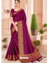 Purple Latest Party Wear Designer Silk Sari