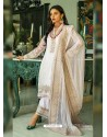 White Heavy Designer Party Wear Georgette Palazzo Suit