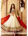 Transcendent Off White Georgette Anarkali Salwar Suit