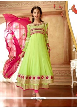 Honourable Lace Work Georgette Anarkali Suit
