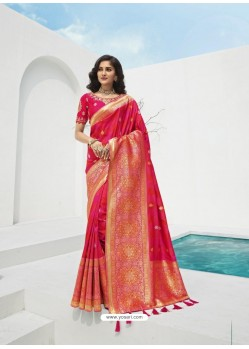 Rani Latest Party Wear Designer Banarasi Silk Sari