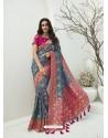 Pigeon Latest Party Wear Designer Banarasi Silk Sari