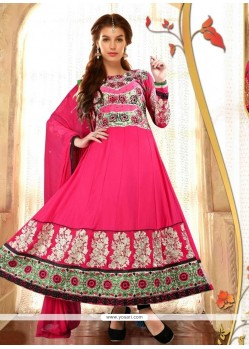 Modernistic Hot Pink Anarkali Salwar Suit