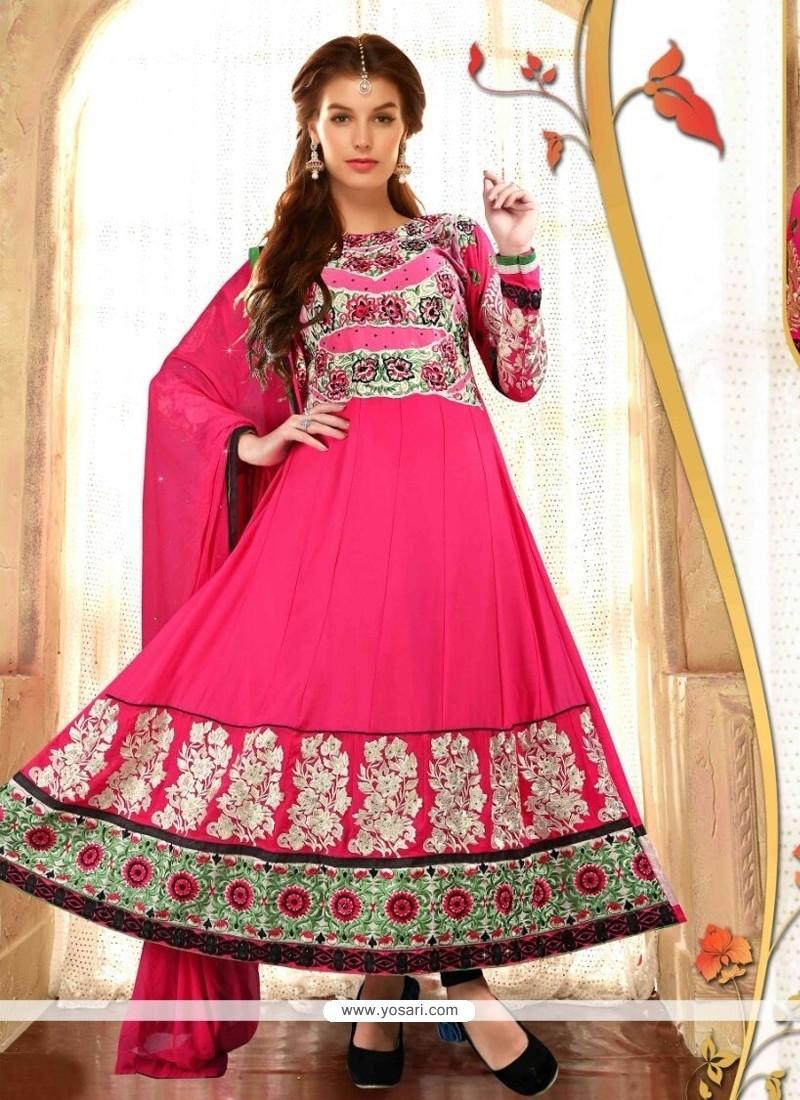 Modernistic Hot Pink Anarkali Salwar Suit