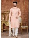 Light Orange Designer Festive Wear Kurta Pajama For Men
