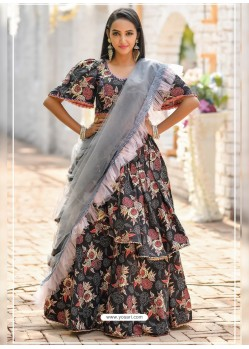 Multi Colour Gorgeous Designer Party Wear Lehenga