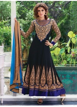 Renowned Georgette Resham Work Anarkali Salwar Suit