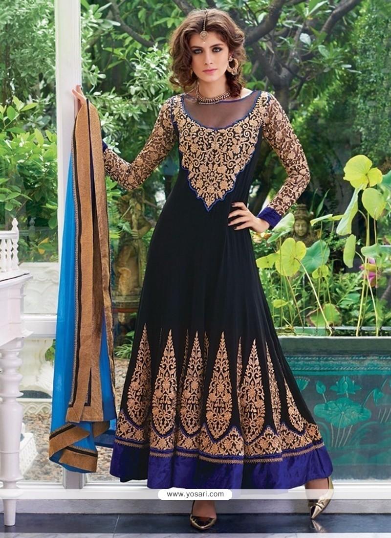 Renowned Georgette Resham Work Anarkali Salwar Suit