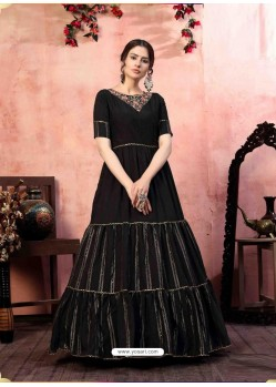 Black Stylish Designer Party Wear Gown