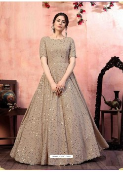 Light Brown Stylish Designer Party Wear Gown