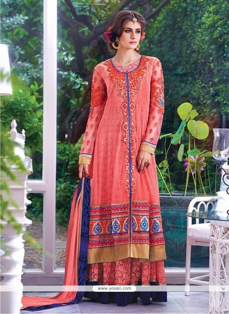 Pink Georgette Designer Salwar Kameez
