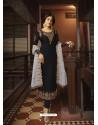 Black Designer Party Wear Georgette Satin Straight Salwar Suit