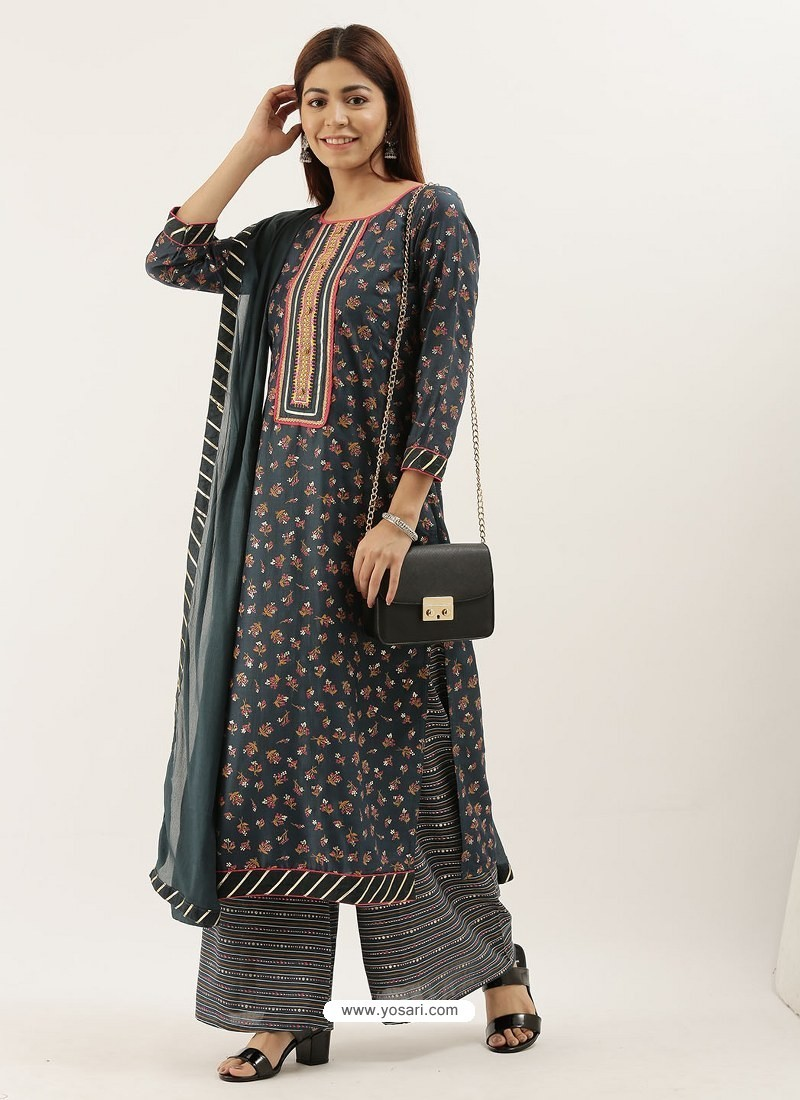 Pigeon Designer Heavy Party Wear Chinon Palazzo Salwar Suit