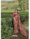 Old Rose Latest Casual Wear Designer Printed Georgette Sari