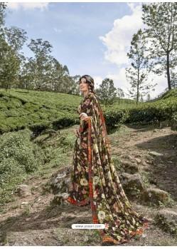 Multi Colour Latest Casual Wear Designer Printed Georgette Sari