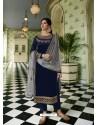 Navy Blue Scintillating Designer Straight Salwar Suit