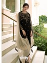 Black Scintillating Designer Straight Salwar Suit