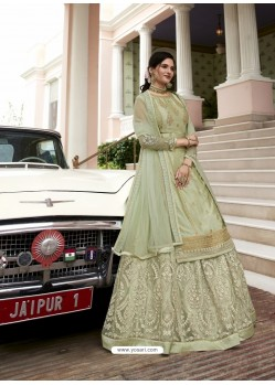 Pista Green Scintillating Designer Wedding Salwar Suit