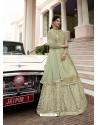 Pista Green Scintillating Designer Wedding Salwar Suit