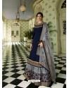 Navy Blue Scintillating Designer Wedding Salwar Suit