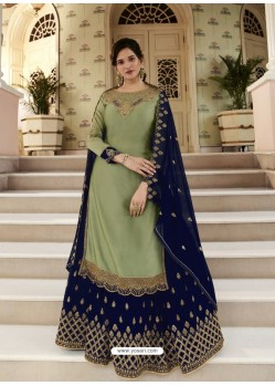 Green Scintillating Designer Wedding Salwar Suit