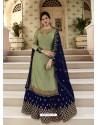 Green Scintillating Designer Wedding Salwar Suit
