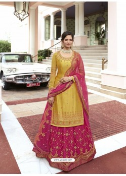 Yellow Scintillating Designer Wedding Salwar Suit
