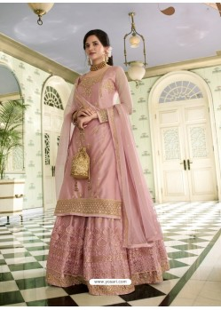 Baby Pink Scintillating Designer Wedding Salwar Suit