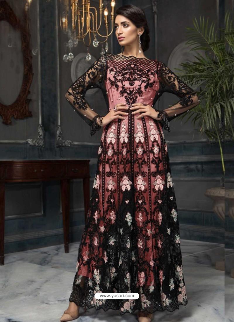 Baby Pink Latest Designer Heavy Net Party Wear Pakistani Suit