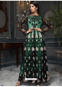 Sea Green Latest Designer Heavy Net Party Wear Pakistani Suit