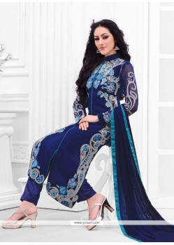 Intrinsic Blue Designer Salwar Kameez