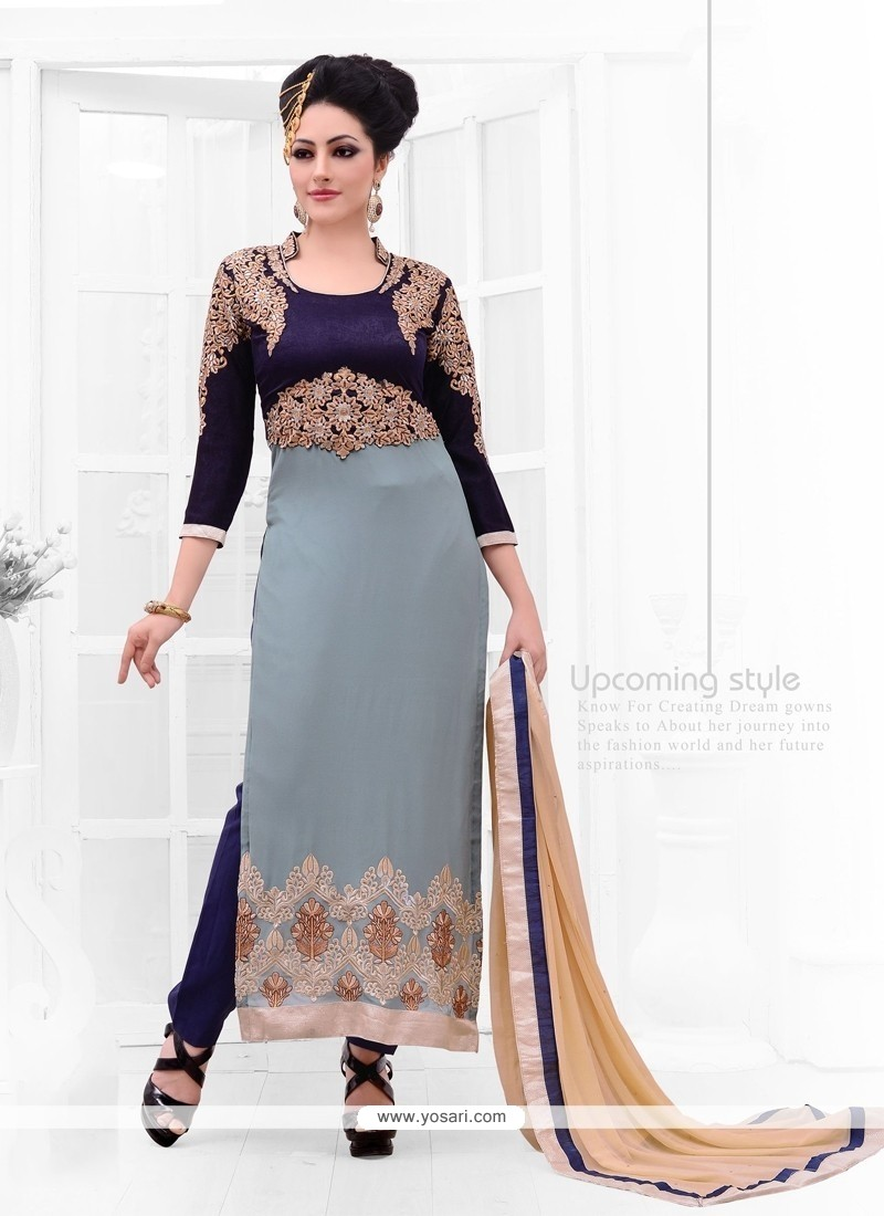Sunshine Zari Work Designer Straight Salwar Kameez